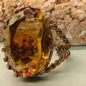 Beautiful Germany adjustable ring with large stone